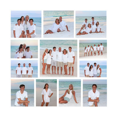 Family Beach Collage Canvas Sample