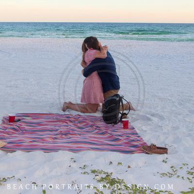Pop Up beach proposal, engagement pics