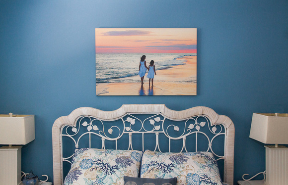 Canvas Wall Above Bed 24x36w