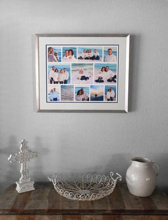 Framed Beach Collage on Wallw2