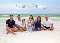 Christmas cards from beach photos