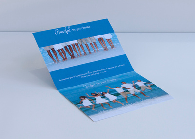 Cardstock photo cards inside view