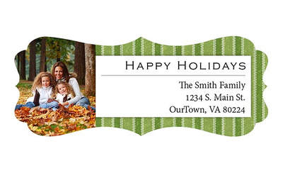 Holiday Return Address Labels with photos