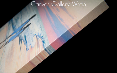 Canvas gallery wrap side
