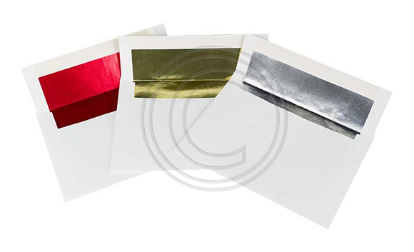 Photo card envelopes with colored foil lined