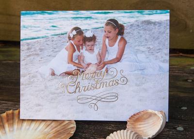 Silver Embossed Foil Card Sample