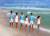 Family Beach Christmas photo cards